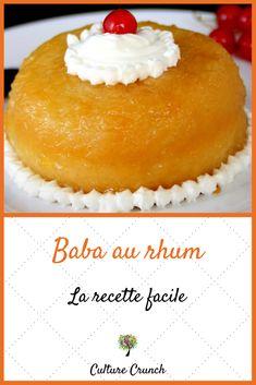 Baba au rhum : la recette facile - The Best Irish Recipes Mango Pudding, Oreo Pudding, Pudding Desserts, Chia Pudding, Mini Desserts, Cookie Desserts, Irish Recipes, Apple Recipes, Sweet Recipes