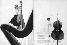Harper's Bazaar, November, 1951, designed by Alexey Brodovitch and photographed by Derujinski.
