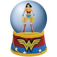 Wonder Woman Logo Water Globe