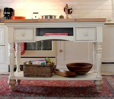 How to Make a DIY Kitchen Island from a Home Goods console table!