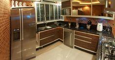 Cozinha planejada marrom