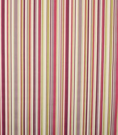 How about a contemporary stripe to introduce the colour of 2014?  http://www.justfabrics.co.uk/curtain-fabric-upholstery/purple-funky-stripe-fabric/