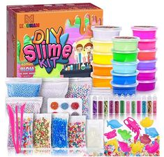 Slime Toy, Foam Slime, Diy Slime, Putty Toy, Slime Containers, Pink Birthday Cakes, Slime For Kids, Glitter Slime, Cute Pens
