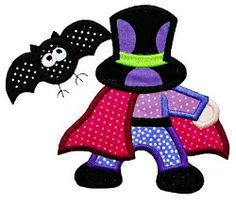 Sunbonnets Halloween Applique Set, 12 Designs - 2 Sizes! | Halloween | Machine Embroidery Designs | SWAKembroidery.com Designs by Juju