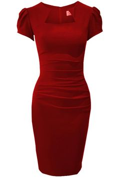dv-alexandrared Super flattering dress cut from Bi-stretch with curve-contouring style has flattering pleats across the tummy to create a flawless fit. Wear it anytime. .  £99