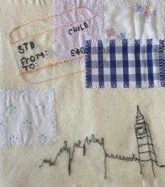 Leanne Floweth, london, appliqué, free machine, stitch, vintage, patchwork, quilting,