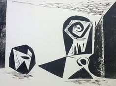 Stemmed Glass PP 1947 by Pablo Picasso
