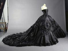 black wedding dress - remade in ivory