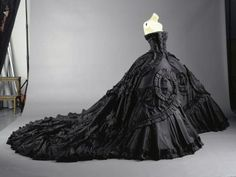 black wedding dress - remade in ivory