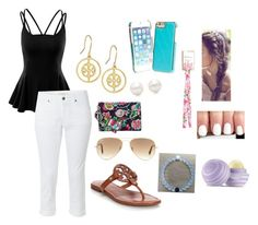 """"""":)"""" by claregenung02 on Polyvore featuring Doublju, White Stuff, Tory Burch, Vera Bradley, Ray-Ban, Lilly Pulitzer, Everest, Tiffany & Co. and Eos"""