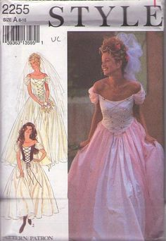 MOMSPatterns Vintage Sewing Patterns - Style 2255 Retro 90's Sewing Pattern THE MOST INCREDIBLE Cinderella Renaissance Wench Party Dress, Fo...