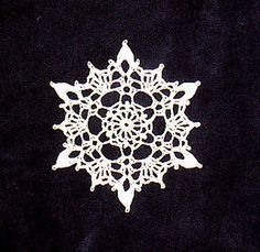 Crochet Snowflake by Poodie free crochet pattern on Ravelry at http://www.ravelry.com/patterns/library/crocheted-snowflake