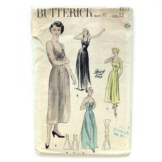 1940s Vintage Princess Slip Optional Shoulder by SelvedgeShop