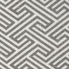 A classic, ash grey geometric fabric print contrasted in creamy whitePerfect for…