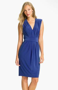 Love this classic blue!  Alex & Ava Pleated Jersey Sheath Dress | Nordstrom