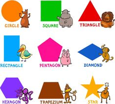 Learning English shapes vocabulary basics