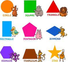 Learning English shapes vocabulary basics