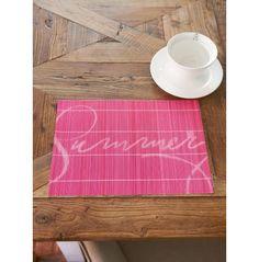 Summer Bamboo Placemat pink | Rivièra Maison