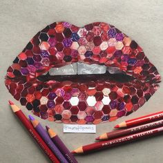 Reference pic by @vladamua 👄 #drawing #lips #coloredpencil