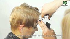 Aprenda a fazer um corte de cabelo curto assimétrico  #cabeleireiro #hairdressers #cabeloscurtos #pelocorto #shorthaircut #pelocorto