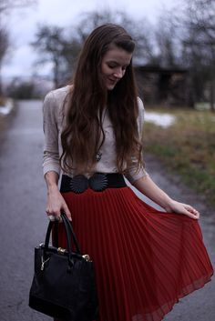 perfect red skirt.