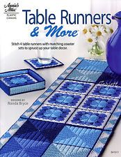 Table Runners & More ~ 4 Runner & Coaster Sets, Annie's plastic canvas patterns