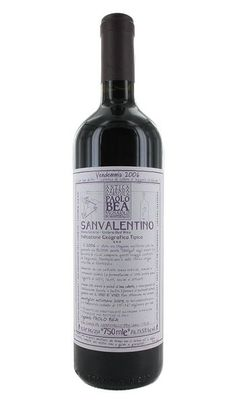 Bea's San Valentino, an Italian red blend of sangiovese, montepulciano, and sagrantino.