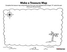 Printable blank treasure maps for children diy pinte make a treasure map maxwellsz