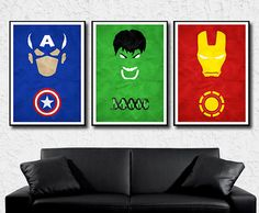 The Avengers Minimalist Inspired Posters Iron by MultiColorArt, $40.00