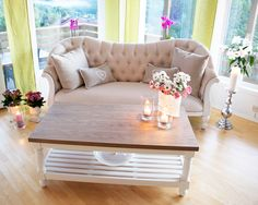 Sofa, Couch, Love Seat, Daisy, Furniture, Design, Home Decor, Homemade Home Decor, Settee