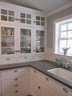 Awesome Double Sided Glass Cabinets
