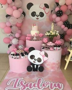 New baby shower ides decoracion panda Ideas Panda Themed Party, Panda Birthday Party, Panda Party, Bear Party, Baby Birthday, Baby Shower Parties, Baby Shower Themes, Shower Ideas, Bolo Panda