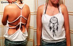 Dream Catcher open back Tanktop... for sale! or by a shirt and make your own cut up dream catcher tank!