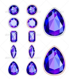 Buy Gemstones by Julieboro on GraphicRiver. set of five forms of violet gemstone cut and two kinds of frames (silver and gold). Gem Tattoo, Jewel Tattoo, Art Tutorials, Drawing Tutorials, Gem Drawing, Jewellery Display, Gold Jewellery, Dainty Jewelry, Leather Jewelry