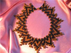 A pattern for beautiful necklace Honey.      U need 2 colours of 11/0 size seed beads