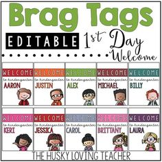 """Start your year off by giving out a """"Welcome to ___ Grade"""" Brag Tag! Classroom Discipline, Classroom Behavior Management, Student Behavior, Class Management, Name Tag For School, Welcome To School, Too Cool For School, Classroom Incentives, Behavior Incentives"""