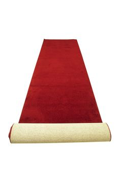 An Academy Awards party is not complete without a red carpet.