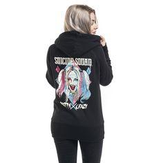 """Felpa donna """"Harley Quinn - Pretty Crazy"""" di #SuicideSquad."""