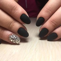 nice 30 Thrilling Ideas for Black Matte Nails - Trickling Delicacy Check more at http://newaylook.com/best-ideas-for-black-matte-nails/
