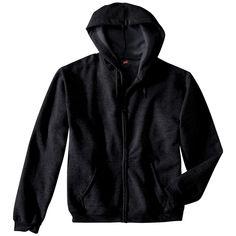 Hanes Premium Men's Fleece Zip up Hooded Sweatshirt - Black M