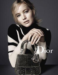 Jennifer Lawrence for Be Dior handbag Fall 2015 Ad Campaign