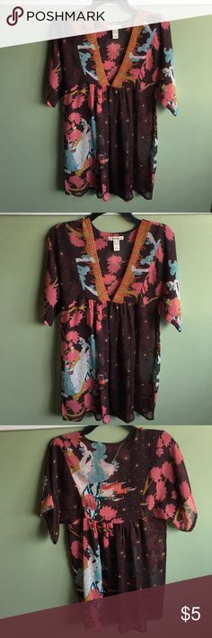"""Forever 21 Unicorn Cover Up Dress Ladies forever 21 unicorn cover up dress. 32"""" from shoulder to bottom. Good condition Forever 21 Dresses"""