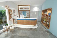 Pharmacy interior design at danoya pharmacy