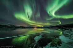 While the cause of auroras is understood, what causes the swirl shapes is an open question. University of Alaska researchers at Poker Flat hope to find an answer. Aurora photographed on Dec. 2012 from Tromso, Norway. Tromso, Images Google, Bing Images, Natural Wonders, Night Skies, Places To See, Norway, Natural Beauty, Beautiful Places