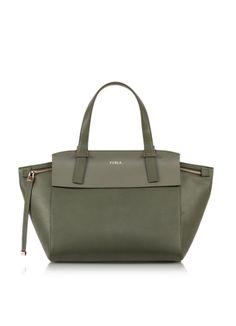 Furla Dolce Vita Sage Green Leather Tote Leather Purses 8e953de047dd7