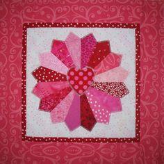 Dresden quilt with heart center by Sondra Millard