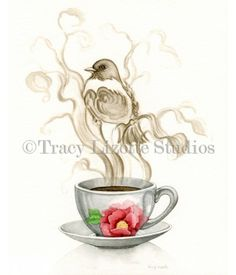 Here's a fun watercolor painting of Morning Mirage by TracyLizotteStudios.com This designs available at: http://www.tracylizottestudios.com/index.php/shop/prints/bird-prints/product/110-morning-mirage