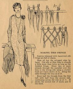 Home Sewing Tips from the 1920s - Timeless Tied Fringe Edging