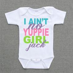I aint no yuppie girl jack Onesie Baby Bodysuit Romper Creeper or Shirt cute funny baby gift under 25 on Etsy, $12.95