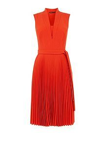 View product Karen Millen Shawl Collar Pleated Dress